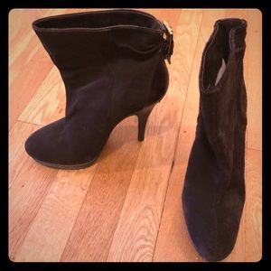 Brown suede Michael Kors ankle boots